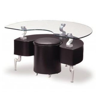 Black End Table with Cushions