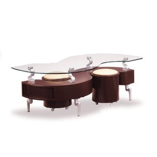 Coffee Table In Mahogany With Cappuccino Cushions