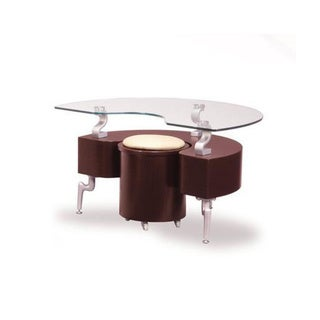 End Table Mahogany With Cappuccino Cushions