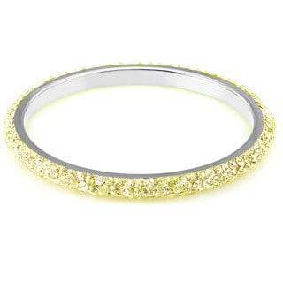 Sterling Silverplated Jonquil Crystal Bangle