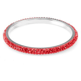 Sterling Silverplated Orange Crystal Bangle
