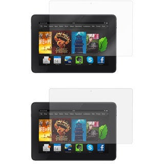 rooCASE 2 HD Clear and 2 Anti-glare Screen Protectors for Kindle Fire HD 6 (Pack of 4)
