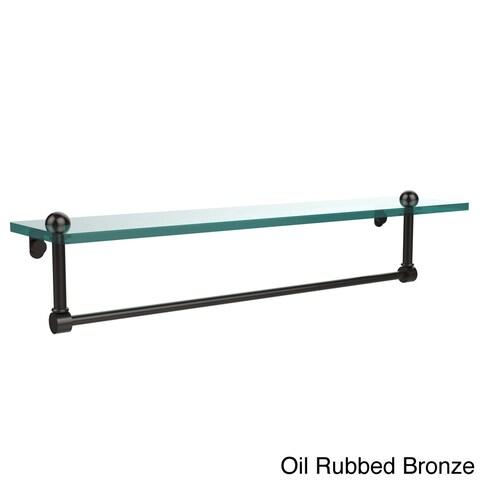 22-inch Glass Shelf with Towel Bar