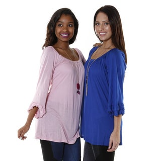 Hadari Women's Bell Sleeve Tunic (Set of 2)