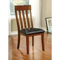 "Furniture of America Richmonte Country Style Cherry Dining Chair (Set of 2) - 19 1/4""W X 23""D X 40""H (Seat Ht: 19 1/2"", Seat Dp:"