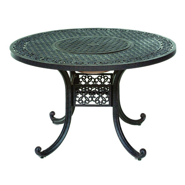 Shop Somette Athens 48 Inch Round Cast Aluminum Outdoor Dining