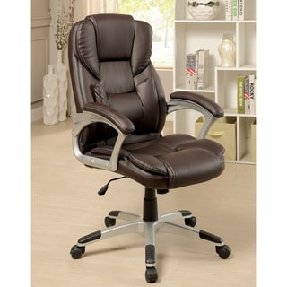 Furniture of America Mikael Brown Leatherette Executive Chair