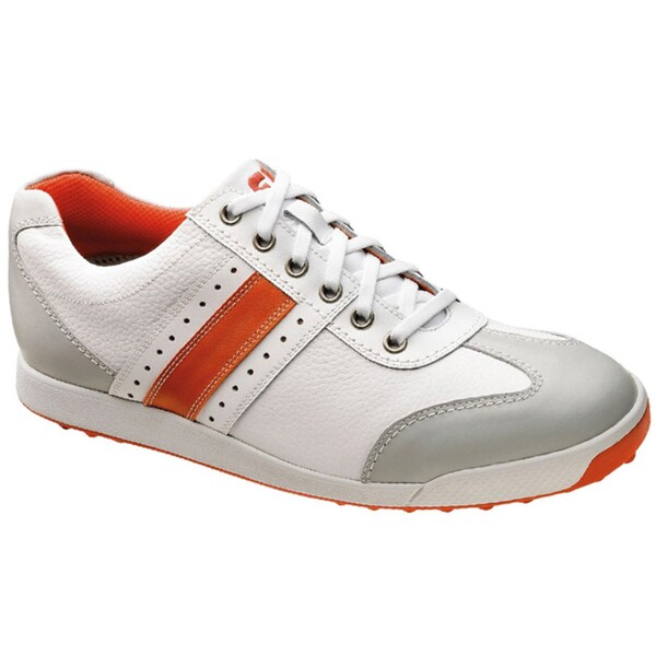 Footjoy Contour Casual Golf Shoes White Orange