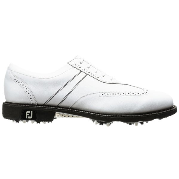 1437f3d535e Shop FootJoy Men s Icon Wing Tip White Golf Shoes - Free Shipping ...