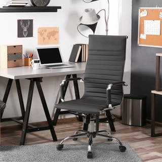 Furniture of America Kimmel Ribbed High Back Office Chair|https://ak1.ostkcdn.com/images/products/9923739/P17080468.jpg?impolicy=medium