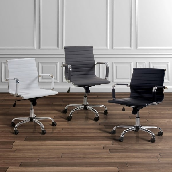 Furniture Of America Kimmel Ribbed Standard Back Office Chair Free