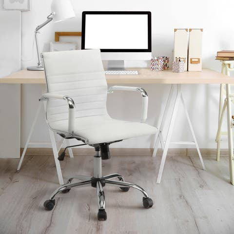 Porch & Den Pembroke Ribbed Standard Height Office Chair