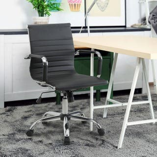 Furniture of America Kimmel Ribbed Standard Back Office Chair|https://ak1.ostkcdn.com/images/products/9923741/P17080469.jpg?impolicy=medium