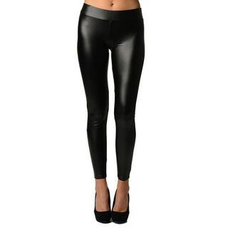 Faux Leather Black Leggings Super Stretch By Dinamit|https://ak1.ostkcdn.com/images/products/9923781/P17080589.jpg?impolicy=medium