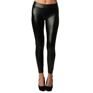 Faux Leather Black Leggings Super Stretch By Dinamit