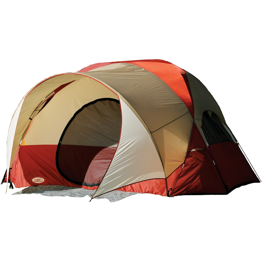Texsport Clear Creek 4-person Vestibule Tent (Cream and Red)
