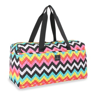 French West Indies 21-inch Chevron Carry On Soft Duffel Bag