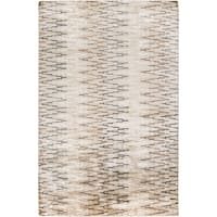 Hand-Knotted Bruce Geometric Viscose Area Rug - 8' x 11'