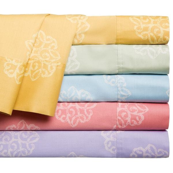 Milena 100-percent Cotton 300 Thread Count Print Sheet Set