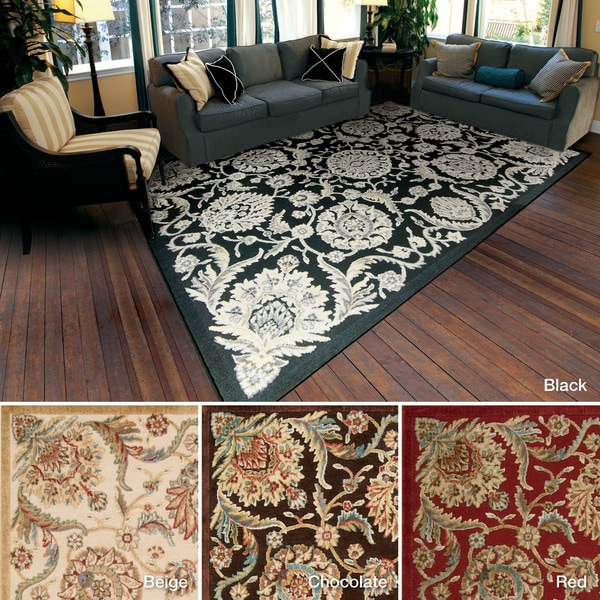 """Rug Squared Corona Floral Accent Rug (2'3 x 3'9 ) - 2'3"""" x 3'9"""""""