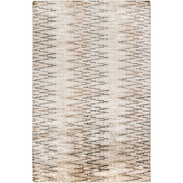 Hand-Knotted Bruce Geometric Viscose Area Rug - 9' x 13'