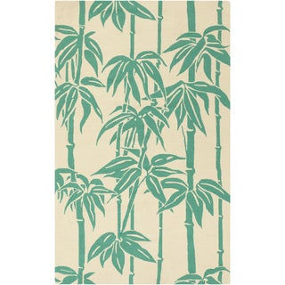 Hand-Hooked Rudy Floral Rug (3' x 5')