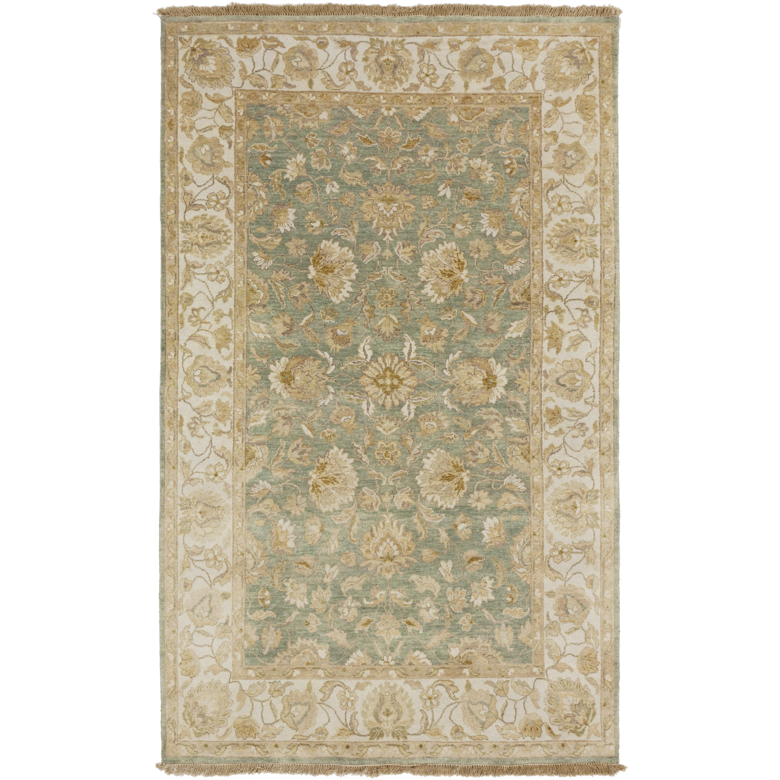 SURYA Hand-Knotted Tracey Border Indoor Rug (2' x 3') (Bl...
