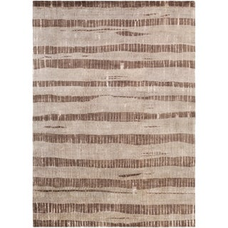 Hand-Knotted Teviot Stipe Indoor Rug (8' x 11')