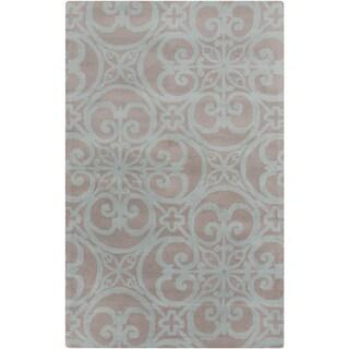 Hand-Tufted Abbey Damask Wool Rug (8' x 11')