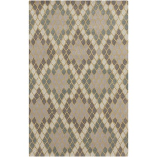 Hand-Tufted Abril Geometric Wool Area Rug - 8' x 11'