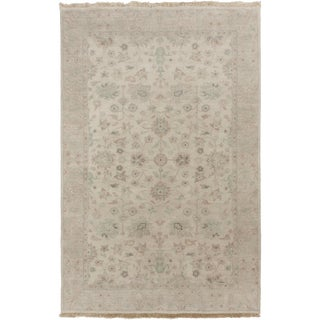 Hand-Knotted Trevor Border Indoor Rug (5' x 8')