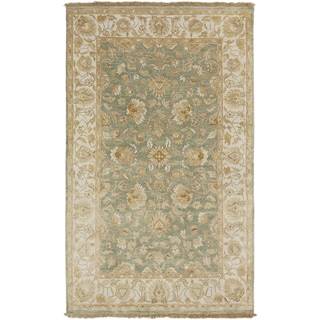 Hand-Knotted Tracey Border Indoor Area Rug - 5' x 8'