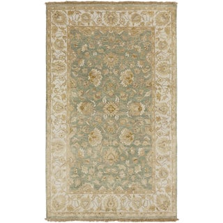 Hand-Knotted Tracey Border Indoor Rug (5' x 8')