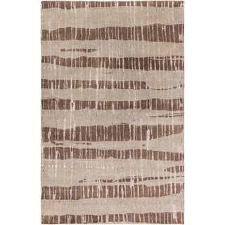 Hand-Knotted Teviot Stipe Indoor Area Rug - 5' x 8'