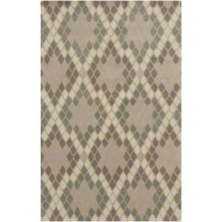 Hand-Tufted Abril Geometric Wool Area Rug - 5' x 8'