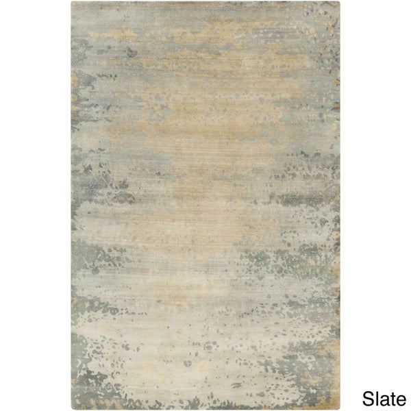 Hand-Knotted Shiloh Abstract Indoor Area Rug - 5' x 8'