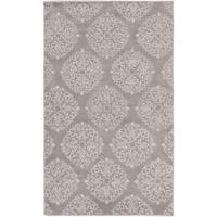 Hand-Tufted Addie Damask Wool Area Rug - 5' x 8'