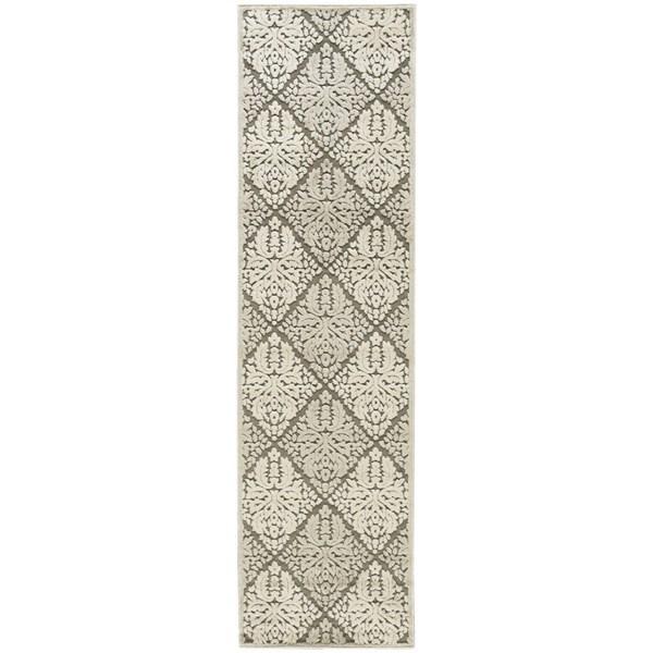 Rug Squared Corona Ivory/Grey Rug (2'3 x 8'0)