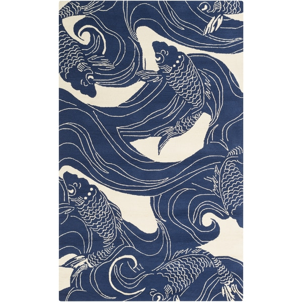 The Curated Nomad Montego Hand-hooked Coastal Area Rug - 8' x 1