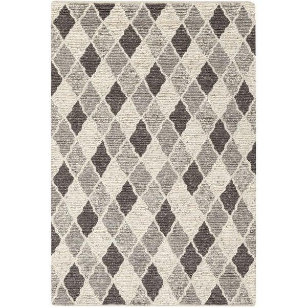 Copper Grove Rock Rose Hand-woven Moroccan Trellis Wool Area Rug - 2' x 3'