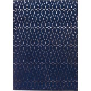 Hand-Tufted Cadence Geometric New Zealand Wool Rug (8' x 11')