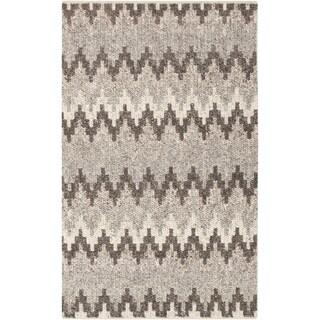 Hand-Woven Sammy Chevron Wool Area Rug - 8' x 10'