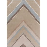 Hand-Tufted Wright Geometric Indoor Area Rug (8' x 11') - 8' x 11'