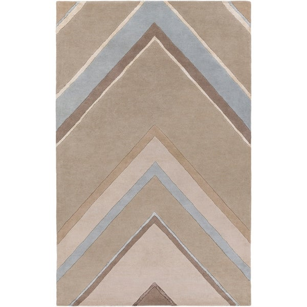 Hand-Tufted Wright Geometric Indoor Area Rug - 5' x 8'