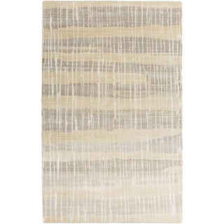 Hand-Knotted Wilkes Abstract Indoor Rug (5' x 8')