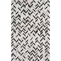 Hand-Crafted Presley Chevron Hair On Hide Area Rug (2' x 3') - 2' x 3'