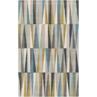 Pinnacle Handmade Abstract Gray Gold Area Rug 9 6 Quot X 13