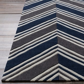 Hand-Tufted Orville Geometric Poly Acrylic Rug (8' x 10')