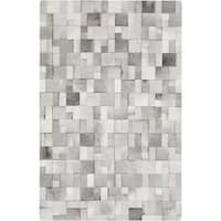 Hand-Crafted Phillip Check Hair On Hide Area Rug - 8' x 10'