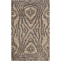 Hand-Knotted Roth Abstract Jute Area Rug - 8' x 11'